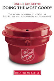 Personal fundraising widget for 2009 Red Kettle campaign